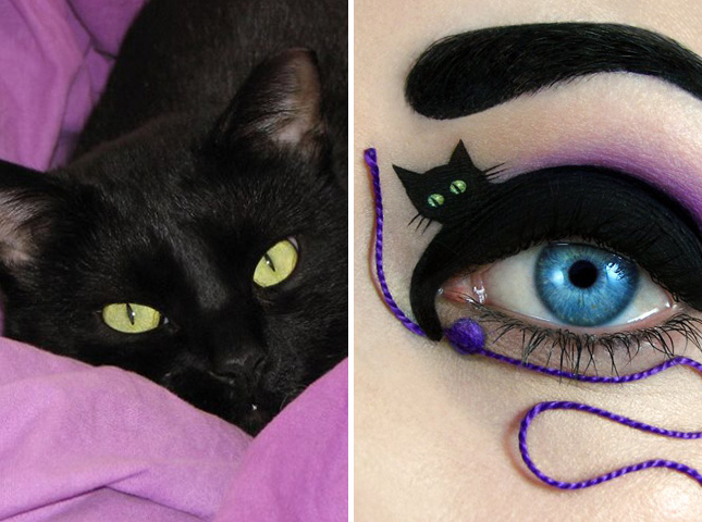 5-Cateye with black cat