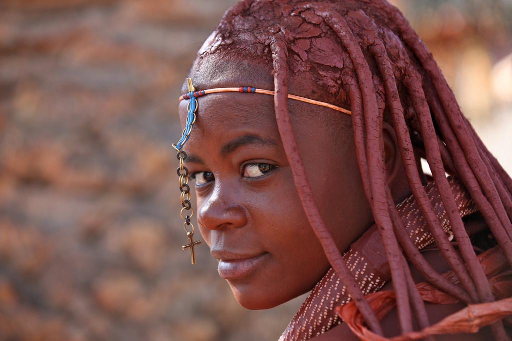 Himba meisje in windhoek