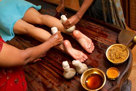 Ayurveda treatment feet