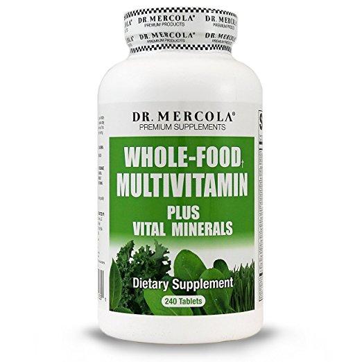 Dr Mercola Whole Food Multivitamin Plus Vital Minerals Nutritional Supplement