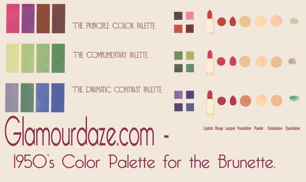 Glamourdaze-1950s-color-palette-brunettes