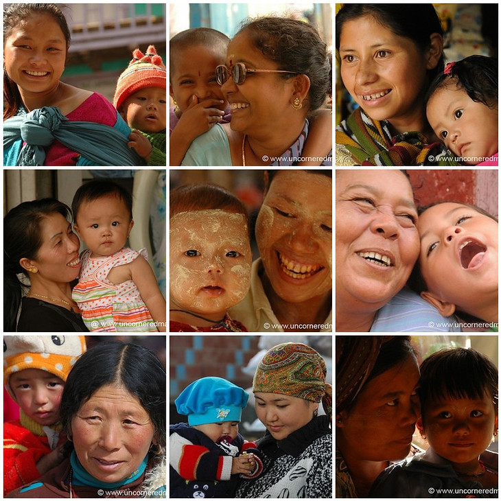 A mosaic of mothers with their children to celebrate mother's day. © www.uncorneredmarket.com