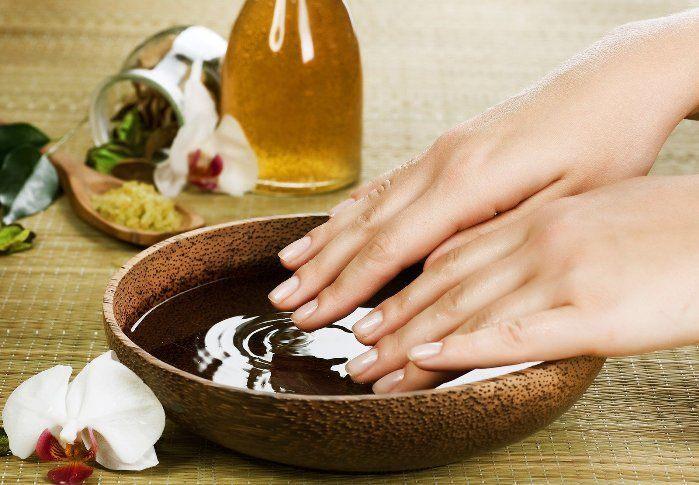 Oil nail soak