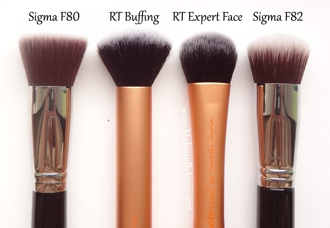Real Techniques Expert Face Brush Sigma F82 Comparison