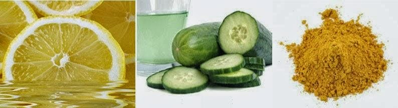 Turmeric, Lemon Juice and Cucumber  re ya