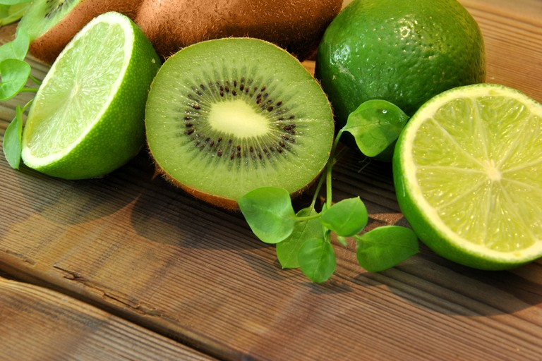 kiwi and lime