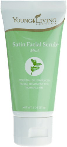 Young living essential oil mint facial scrub pity, that