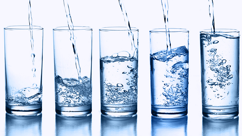 water five glases